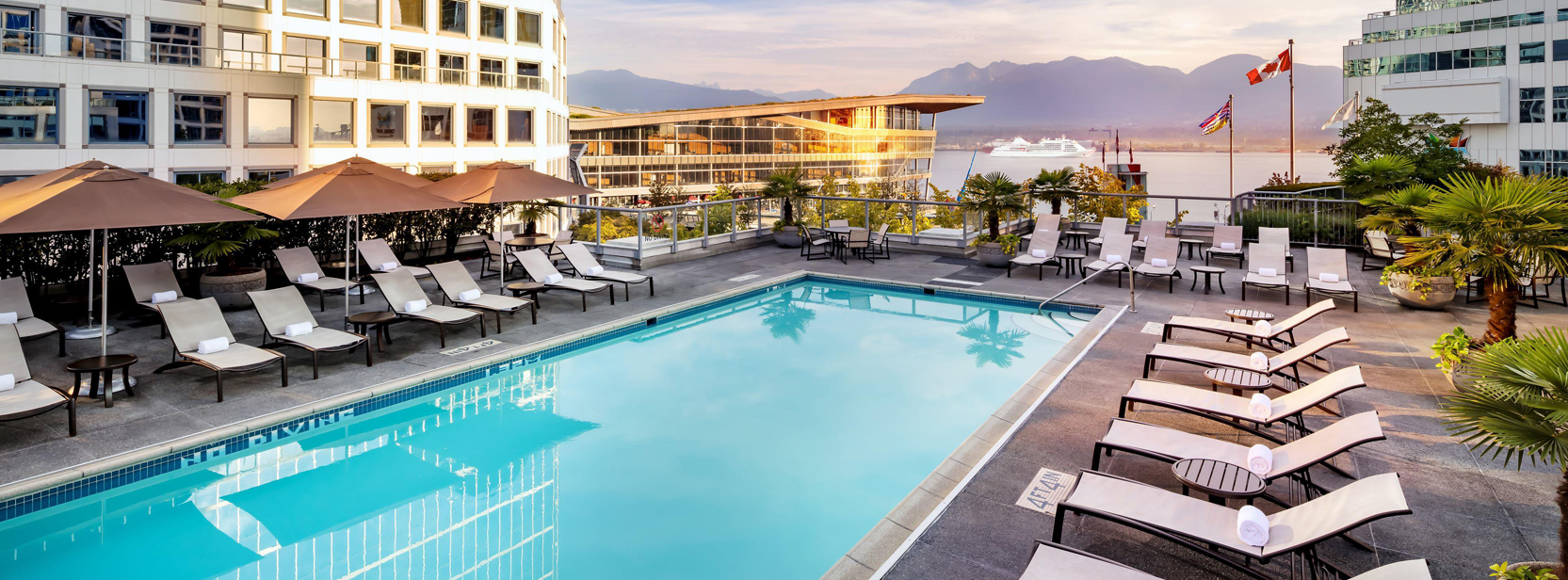 Rooftop Pool at Fairmont Waterfront