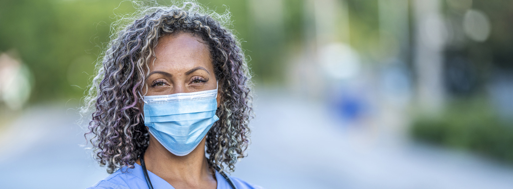 Healthcare Worker in a Mask